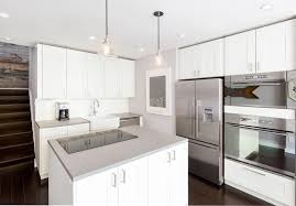 kitchens with white cabinets and dark floors. Modern Kitchen With White Cabinets, Dark Wood Floors And Corian Solid Surface Counters Kitchens Cabinets A