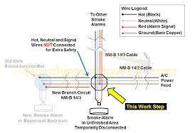 14 3 wire diagram electrical how do i install a gfci receptacle two how to install a hardwired smoke alarm new branch circuit smoke alarm wiring diagram junction box