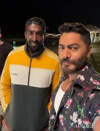 """Tamer Hosny filming his latest song """"Open Your Heart""""… Photos"""