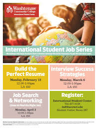 calendar career services international student workshop job search techniques wcc crane s liberal arts and science building