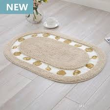 2018 bath room rugs bath carpet oval bathroom mats large carpets pad to the bathroom 40x60cm 50x80cm beige blue coffee purple non slip floor mats from