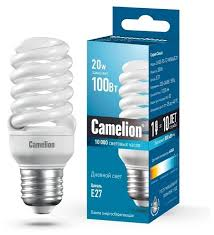 Купить <b>Лампа</b> люминесцентная Camelion 10609, E27, T2, 20Вт по ...