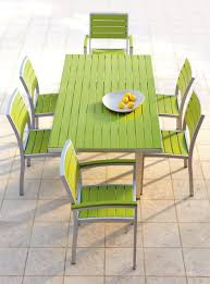 plastic patio chairs green target patio chairs with green wooden table plus tile flooring ideas