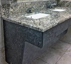 ada compliant commercial bathroom vanity. shown installed. these pedestals are intended to be concealed. make note that stone or ada compliant commercial bathroom vanity e