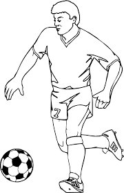 Small Picture Running Football Player Playing Soccer Coloring Page Wecoloringpage