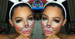 cute rabbit makeup look cute