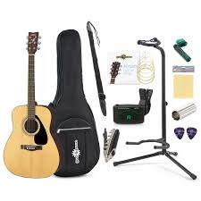 yamaha acoustic guitar. yamaha f310 acoustic guitar with gear4music accessory pack