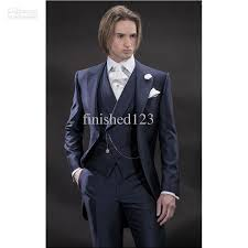 Coat Pant Design For Marriage 2015 New Design Morning Style Navy Blue Groom Tuxedos Groomsmen