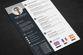 Professional Resume Cv Template Free Psd Files Graphic Web
