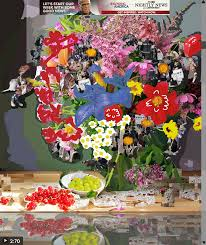 digital flower collages capture anti trump protest chaos creators after flowers for algernon 10 270 lets start our week some good news 2017 courtesy of gregory eddi jones