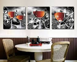 Modern Wall Paintings Living Room Aliexpresscom Buy Cuadros Decoracion Household Wine Glasses 3
