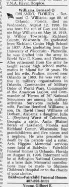 Obituary for Bernard Williams - Newspapers.com