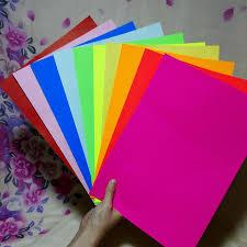 A4 Multicolour Self Adhesive Sticker Paper 10 Piece A Lot