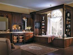 Decorating: Amazing Dark Wood Cabinetry With Medallion Cabinets ...