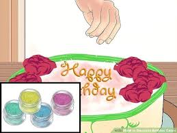 image titled decorate. Cake Ideas For Mens 40th Image Titled Decorate Birthday Cakes Step How To With Pictures E