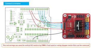 arduino modules l298n dual h bridge motor controller 4 steps step 2 wiring to an arduino