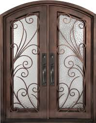 Double Front Exterior Doors Fiberglass Iron Entry Doors Iron - Iron exterior door