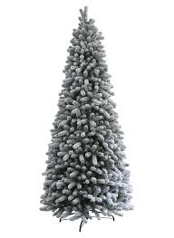 9 Foot King Flock Slim Artificial Christmas Tree Unlit | King Of ...
