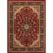 barclay medallion kashan red 4 ft x 5 ft traditional area rug