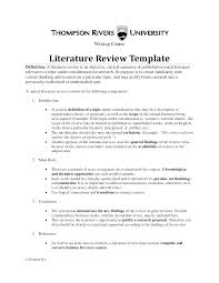 Literature Review Example Apa Template Outline Thesis