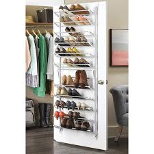 details about over the door shoe rack for 30 pair wall hanging closet organizer storage stand