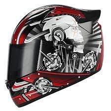 1storm Motorcycle Bike Full Face Helmet Mechanic Skull