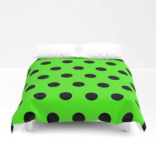 black retro polka dots duvet cover