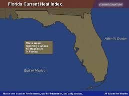 Heat Index Chart Sports Florida Heat Index Map Air Sports Net