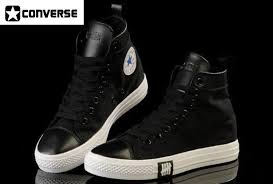converse chuck taylor black leather high tops