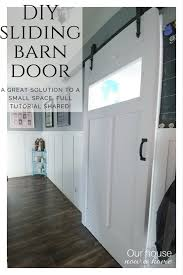 diy sliding barn door easy steps to create the look great solution to a
