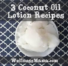 3 coconut oil lotion recipes