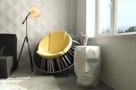 Image of: Modern Small Unique Cozy Reading Chair