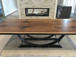 hand made custom solid wood dining and