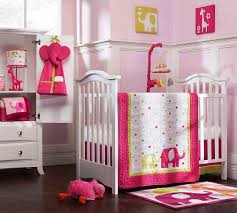 baby girl elephant nursery bedding pink and white