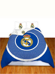 real madrid cf bullseye double reversible duvet cover bedding set