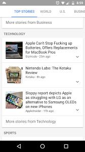Google news headlines using f-word now ...