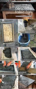 Making Cement Forms Best 20 Concrete Table Top Ideas On Pinterest Concrete Table