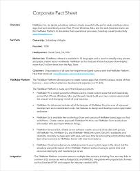 Company Fact Sheet Sample Fact Sheet Template 19 Free Sample Example Format Free