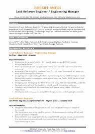 Resume Sample For Software Engineer Experienced Best of Lead Software Engineer Resume Samples QwikResume