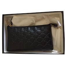 gucci wallet on chain wallets leather black ref 41841