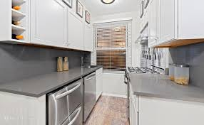next up is the windowed kitchen a smallish but nice looking space that was recently renovated and has brand new white cabinetry including a single row