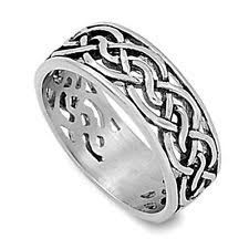 mens celtic knot wedding bands. celtic infinity knot men\u0027s wedding ring new 316l stainless steel band sizes 8-13 mens bands b