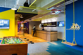 hk open office space. Within This Vibrant Space, The Corporate Yellow Color Is Subtly Infused Into Ceiling Panels, Furniture, Accent Walls And Lights Without Being Obvious. Hk Open Office Space C