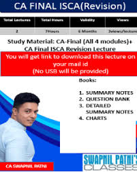 Video Lecture Ca Final Study Material Isca Revision By Ca