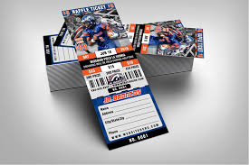 sports invites halftime football raffle ticket style template raffle ticket design 4 jr broncos proof product 2