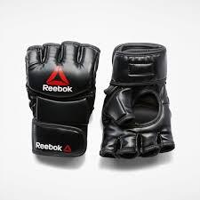 <b>Reebok Перчатки</b> Combat Leather <b>MMA</b> - размер S - черный ...