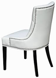 white leather dining chairs. White Leather Dining Chairs