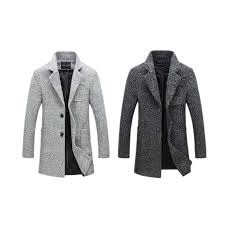 long coat men winter overcoat 40 wool thick jacket 5xl