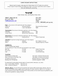 Sample Acting Resume With No Experience Acting Resume format No Experience Fresh Model Resume Template 42