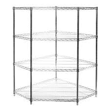 corner wire shelving. Interesting Wire SI Chrome Wire Shelving Pentagon Corner Unit With Larger Photo Email A  Friend Inside